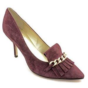 Ivanka Trump Size 6.5 M Dinah Dark Red Suede Heels